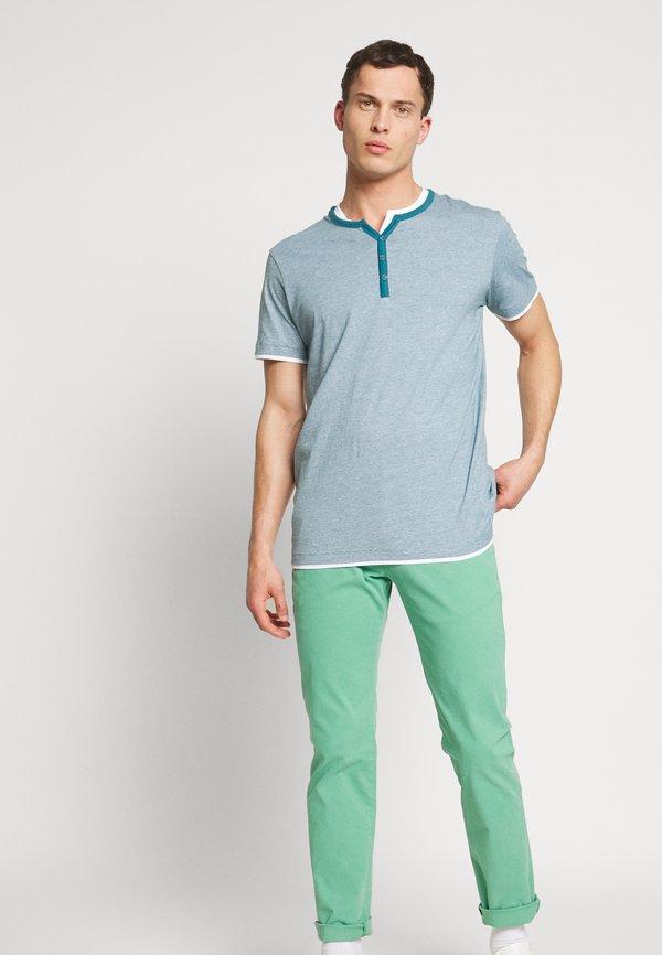 Esprit T-shirt z nadrukiem - petrol blue/turkusowy Odzież Męska AMIJ