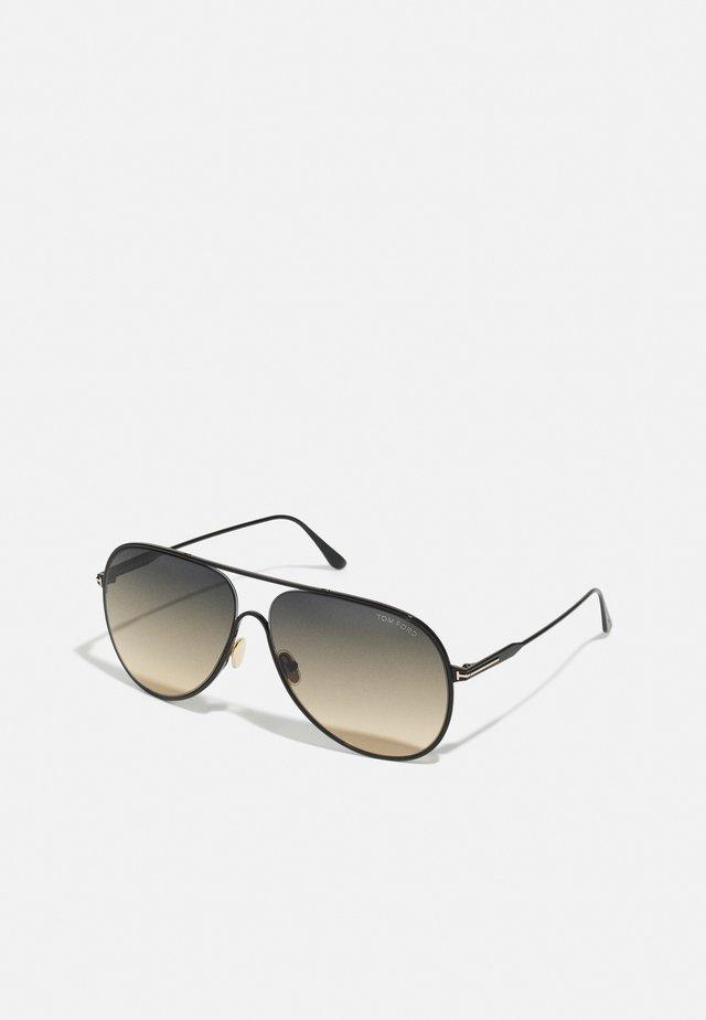 ALEC UNISEX - Sluneční brýle - shiny black/gradient smoke/yellow