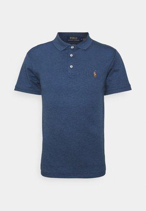 SLIM FIT SOFT COTTON POLO SHIRT - Polo shirt - derby blue heather