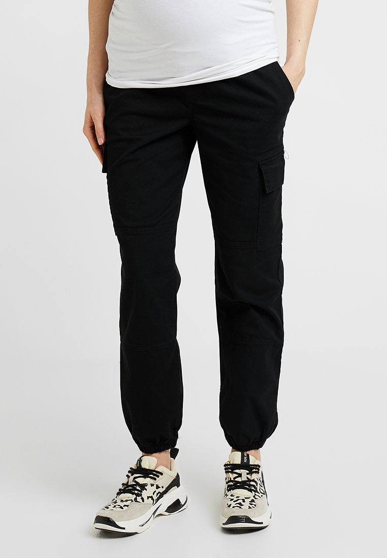 New Look Maternity - UTILITY POCKET TROUSER - Tracksuit bottoms - black
