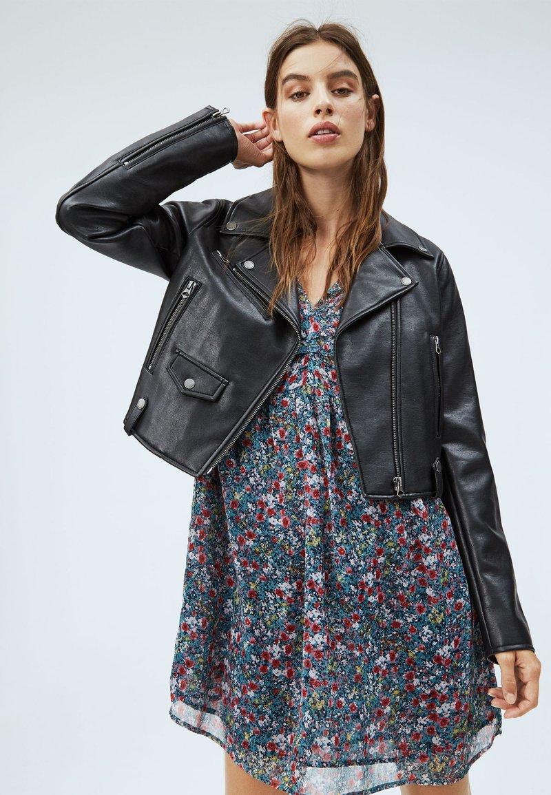 Pepe Jeans - GWEN - Imitatieleren jas - black