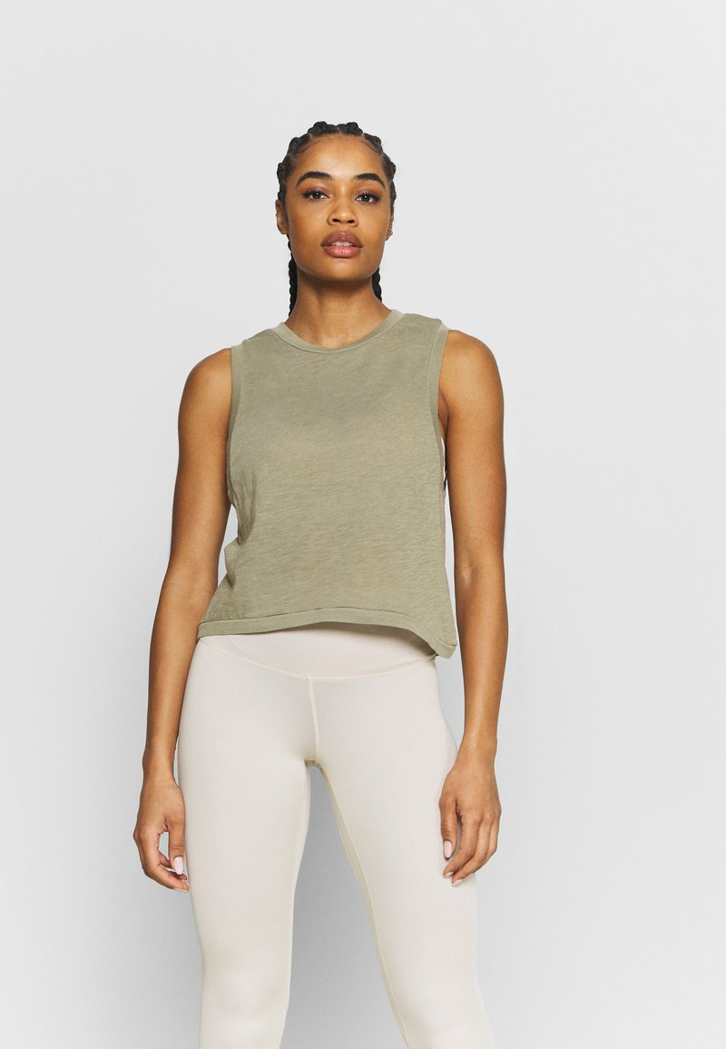 Cotton On Body - ALL THINGS FABULOUS CROPPED MUSCLE TANK - Topper - oregano washed