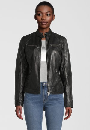 DAGGI - Leather jacket - black