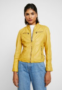 Gipsy - NOHLA - Leather jacket - yellow - 3