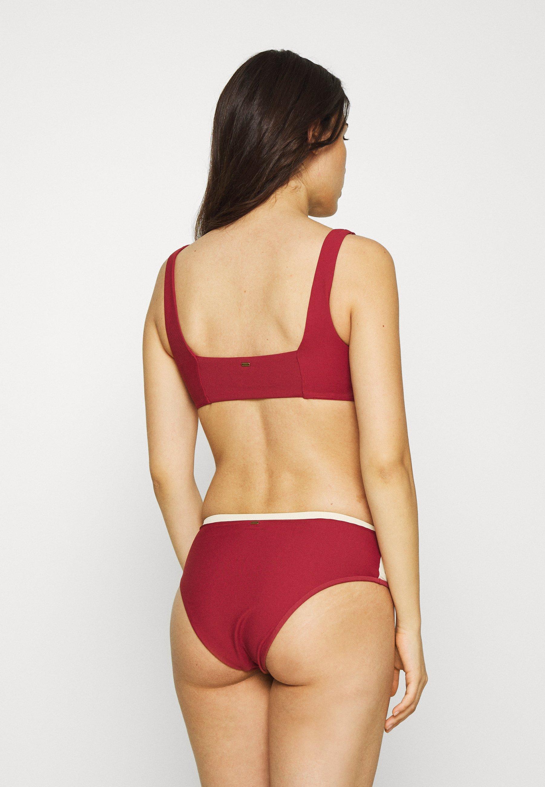 Rip Curl DAYS BLOCK BRA - Bikini top - maroon rDWSH