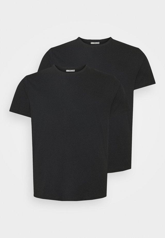 UNI 2 PACK - Basic T-shirt - black/black