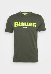 Blauer - T-shirt con stampa - dark green - 0