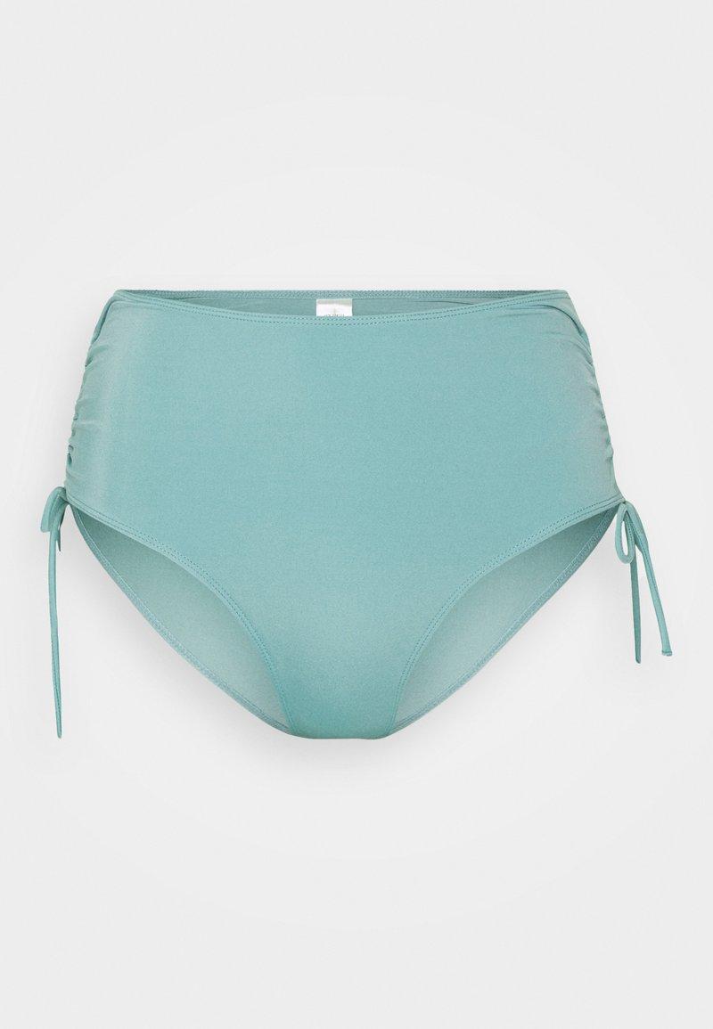 Monki - TANJA HIGHWAIST - Bikini bottoms - turquoise dusty light