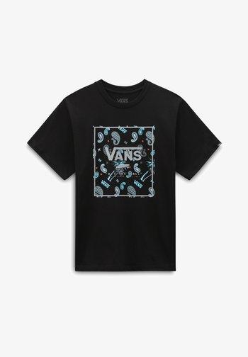 BY BOYS BANDANA BOX SS - Print T-shirt - black