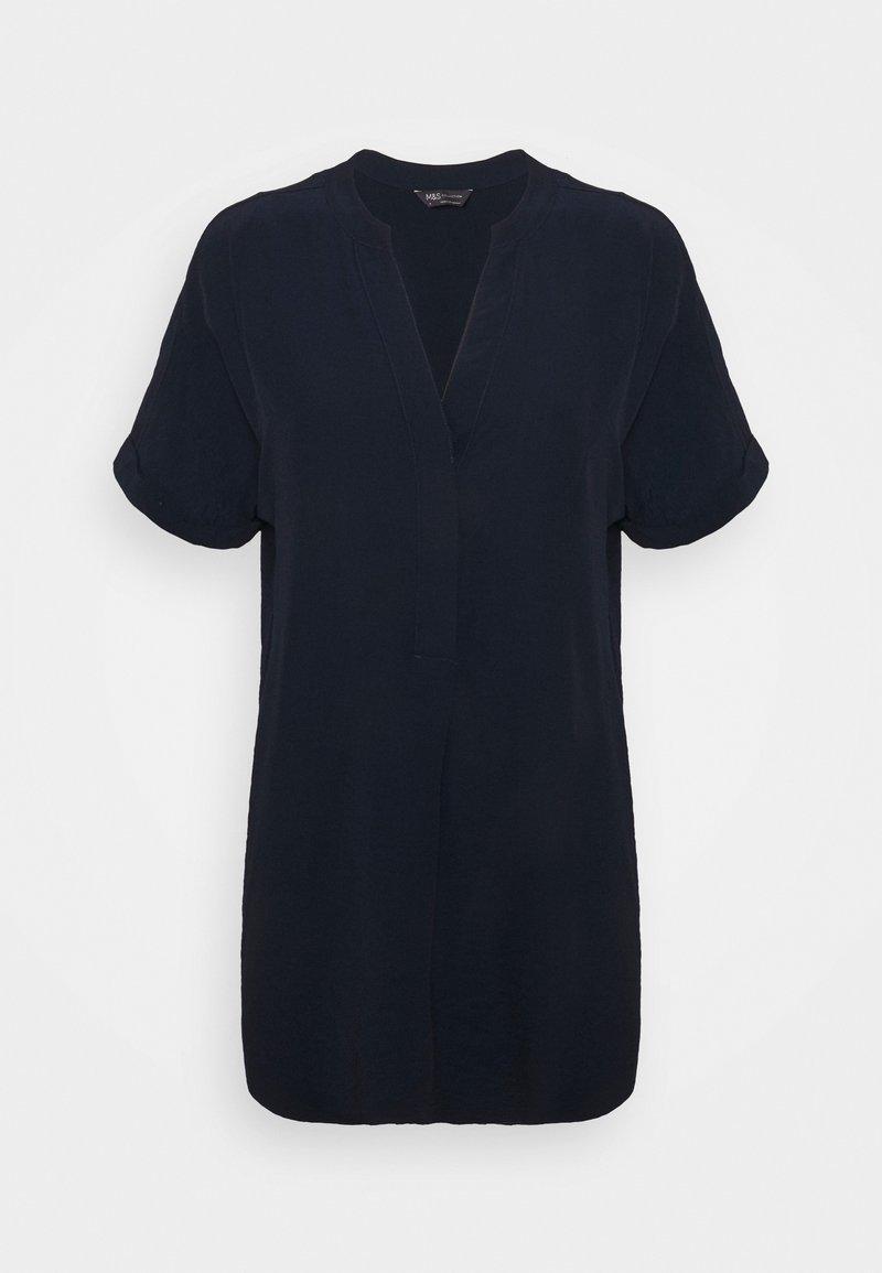 Marks & Spencer London - PLAIN TUNIC - Blouse - dark blue