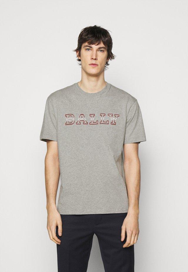 T-shirt print - grigio melange