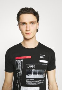 Gianni Lupo - T-shirt imprimé - black - 3