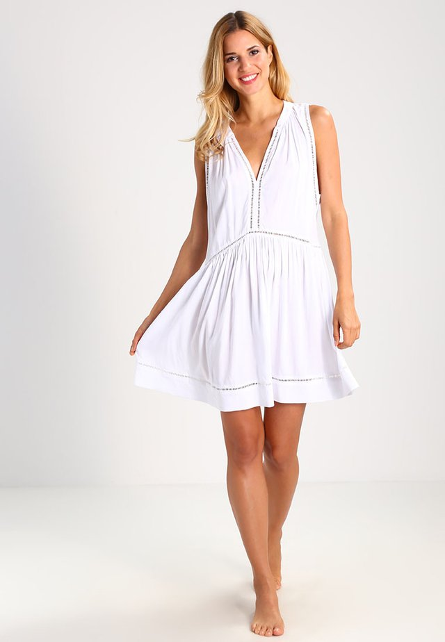 BEACH BASICS LADDER DETAIL DRESS - Beach accessory - white
