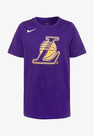 NBA LA LAKERS LOGO TEE - Print T-shirt - court purple