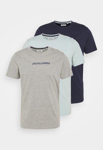 JACRAIN TEE 3 PACK - Pyjamashirt - maritime blue/gray mist