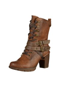 Mustang - Lace-up ankle boots - brown