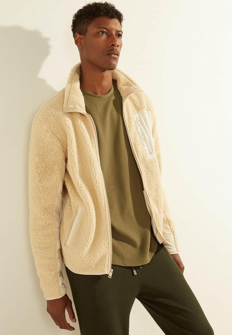 Guess - Fleece jacket - beige