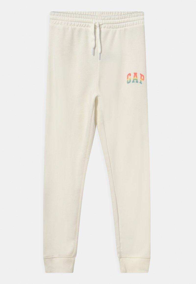 GAP - GIRLS LOGO - Teplákové kalhoty - new off white