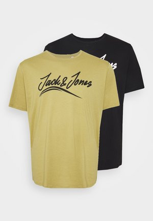 JORFLEXER 2 PACK - Print T-shirt - khaki/black