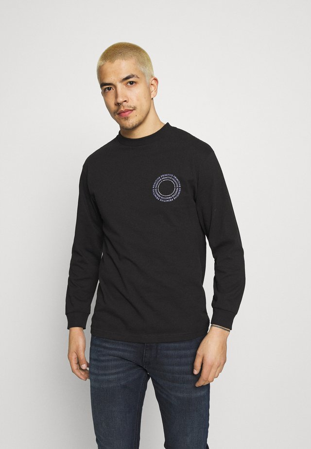 NEW PEACE TEE - Topper langermet - black
