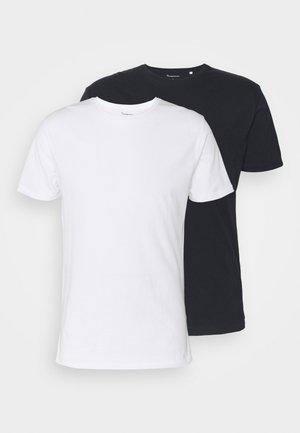 ALDER TEE 2 PACK - T-shirt - bas - blue/white