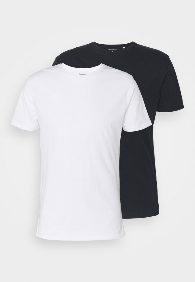 ALDER TEE 2 PACK - T-shirt basique - blue/white