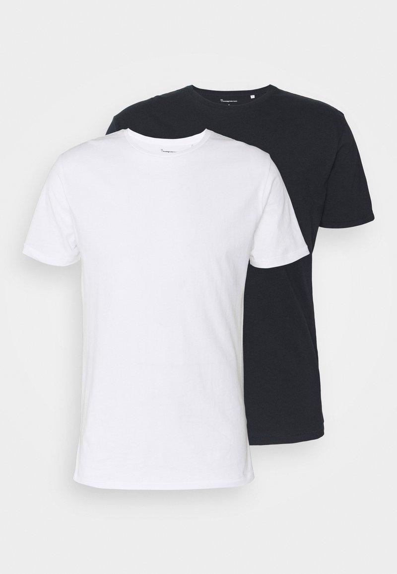 KnowledgeCotton Apparel - ALDER TEE 2 PACK - T-shirt basic - blue/white
