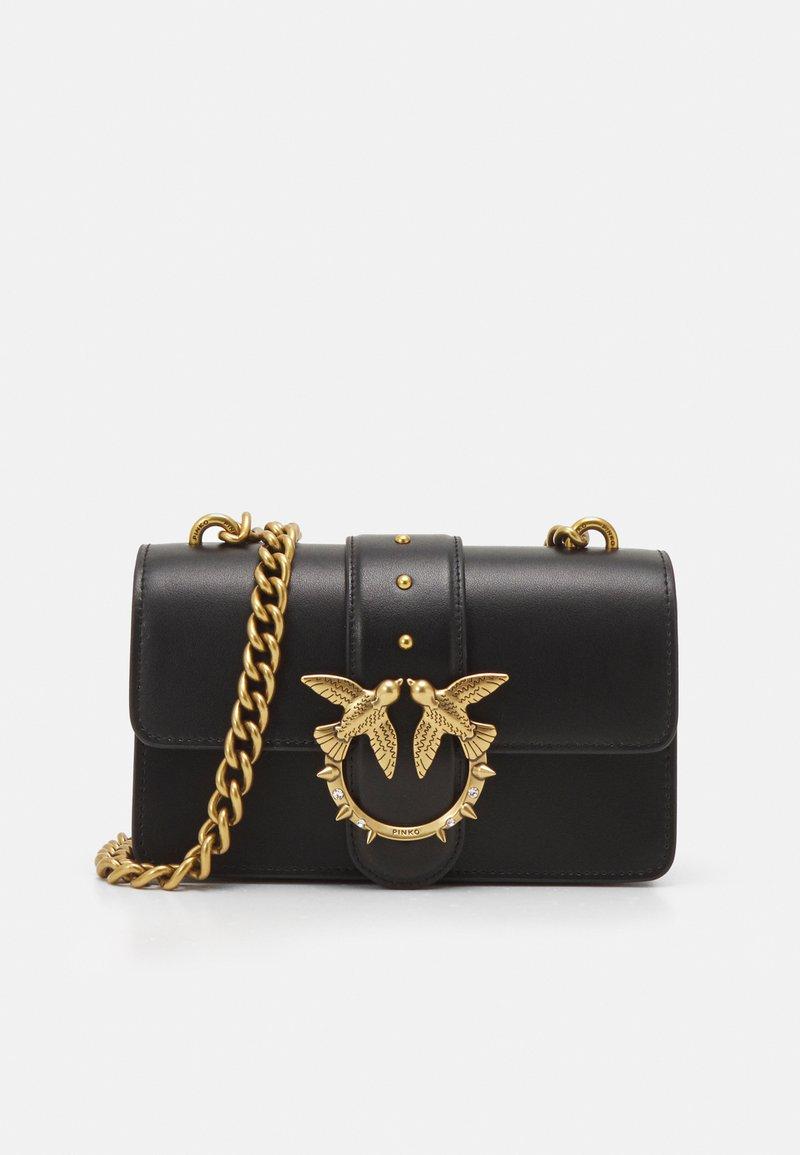Pinko - LOVE MINI ICON SIMPLY JE ANTIQUE - Across body bag - black