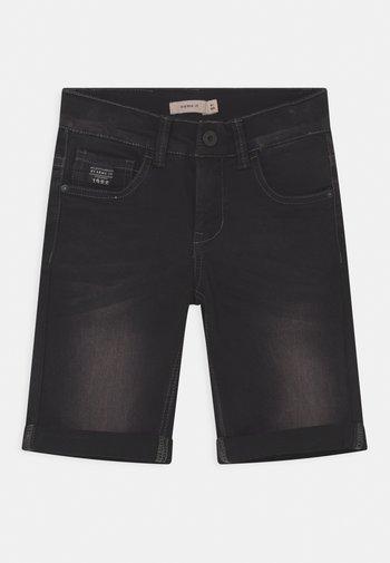 NKMSOFUS - Denim shorts - black denim