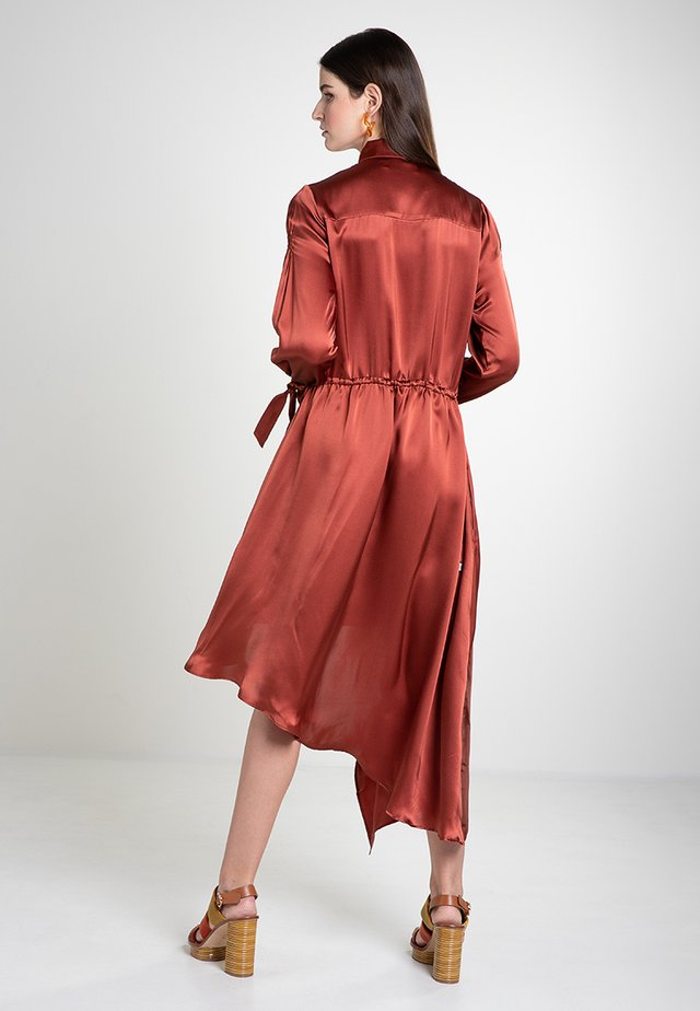 SILK - Maxi dress - copper