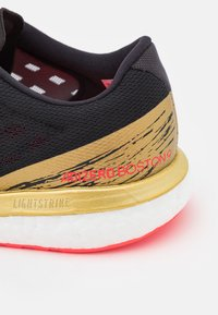 adidas Performance - ADIZERO BOSTON 9  - Competition running shoes - core black/footwear white/gold metallic - 5