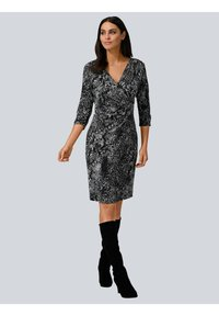 Alba Moda - Jersey dress - grau,weiß - 1