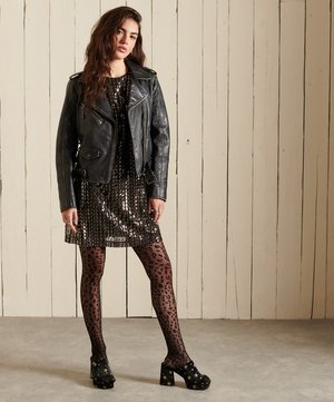 Day dress - black sequin