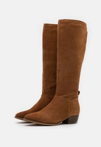 Anna Field - LEATHER  - Vysoká obuv - brown - 2