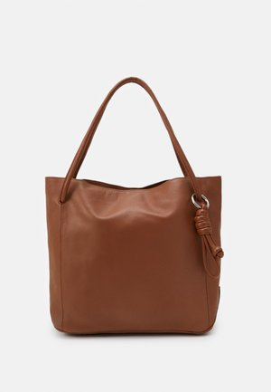 LEATHER - Tote bag - cognac