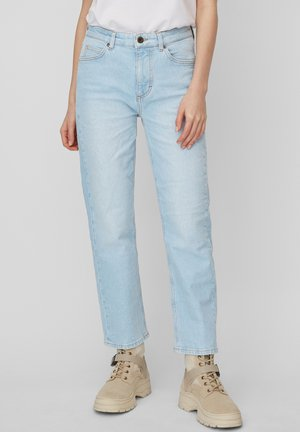MARC O'POLO JEANS LINDE STRAIGHT MIT GERADEM CROPPED LEG - Straight leg jeans - light blue shade denim