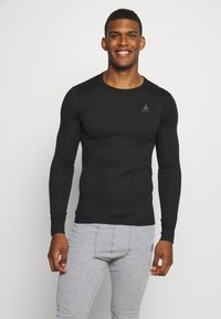 ODLO - ACTIVE WARM ECO TOP CREW NECK - Koszulka sportowa - black - 0