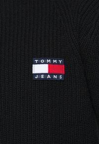 Tommy Jeans - BADGE HALFZIP - Pullover - black - 5