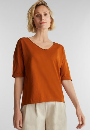 T-shirt basic - rust brown