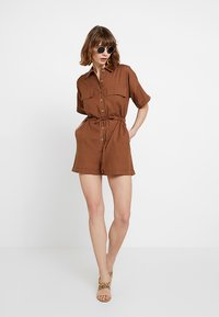 Nly by Nelly - WORKWEAR PLAYSUIT - Combinaison - brown - 2