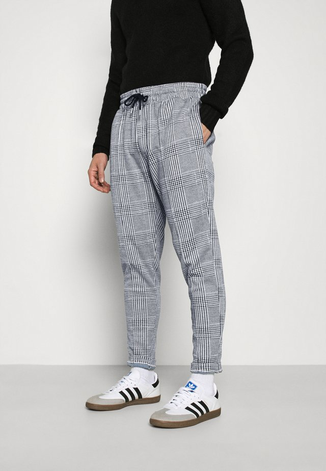 CHECK - Tracksuit bottoms - grey