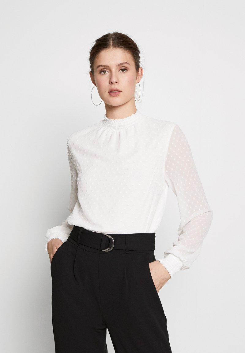 Dorothy Perkins Tall - SHIRRED NECK - Blouse - ivory