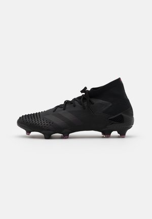 FOOTBALL FIRM GROUND - Moulded stud football boots - core black/shock pink