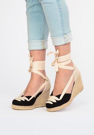 COMPENSÉES ETÉ - High heeled sandals -  black