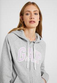 Gap Tall - Mikina na zip - light heather grey - 4