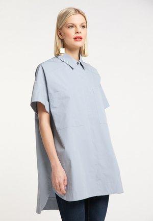 Button-down blouse - blaugrau