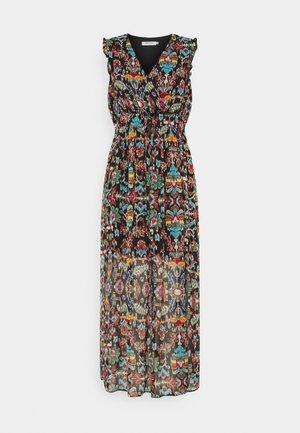 Maxi šaty - melis black/multicolor