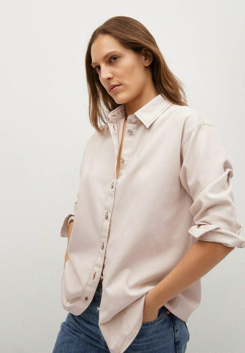 Mango - Button-down blouse - crudo