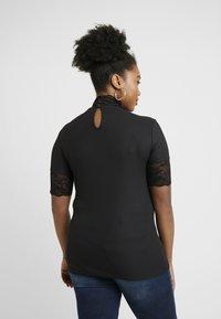 ONLY Carmakoma - HIGHNECK - Print T-shirt - black - 2