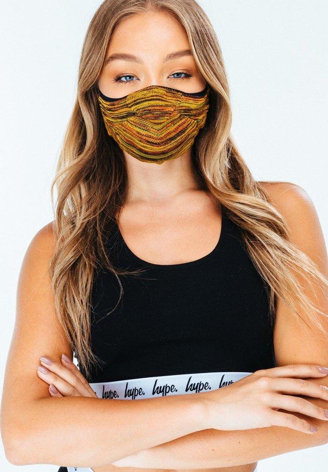 Masque en tissu - yellow/brown